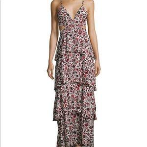 ALC silk maxi dress